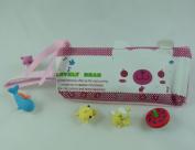 Korean Design Novelty Pencil Case Animal Face Design - Pink