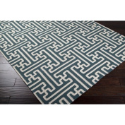 Smithsonian Turquoise 0.6m x 0.9m Flatweave Accent Rug