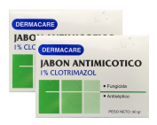 Dermacare Antifungal Bar Soap, 100 gr - Package of 2.