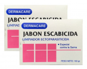 Dermacare Scabicidal Bar Soap, 100 gr - Package of 2.