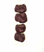 Miss Rola #99j Afro Body , 6 Inche 4pcs 100% Human Hair,100 Grammes
