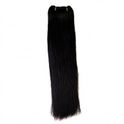 6pcs 75g/pack 36cm #1 Jet Black Straight Brazilian Hair Clip In Hair Extension