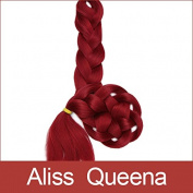 Aliss Queena(TM)Red Synthetic Xpression Braiding Hair Kanekalon Jumbo Braid Hair Extension