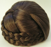 BLISS Dome Wiglet Chignon Bun Hairpiece - 38 Ash Brown with 10% Grey