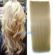 lightest blonde solid colour hair extension, Synthetic Hair extensions UF232