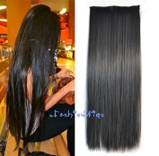 Off Black Colour hair extension, Synthetic Hair extensions UF217