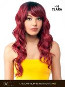 HH CLARA (P1B/RED) - 100% Brazilian Human Hair Blended Hair Wig