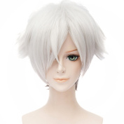 HH Building Death Parade Decim Anime Cosplay Wig Men's Short Messy Party Costume Styling Wigs Hair