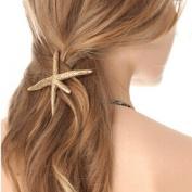 Women Fashion Starfish Hair Clip Lady Girls Hairpin Golden Alloy Hair Pins