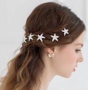6pcs/lot Women Fashion Bridal Hair Accessories Starfish Crystal Hair Pins Hairpins Women Hair Jewellery