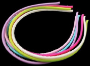 PEPPERLONELY Brand 12PC Assorted Colour Acrylic Skinny Headbands 4mm