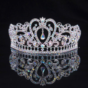 Sunshinesmile® Prom Pageant Princess Colourful Clear Austrian Rhinestone Crystal Tiara Crown Bridal Pageant Headwear