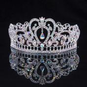 Sunshinesmile® Prom Pageant Princess Colourful Clear Austrian Rhinestone Crystal Tiara Crown Bridal Pageant Headwear