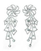 NYfashion101 Women's Rhinestone Studded Floral Pin Wheel Pair Hair Comb NHCY2004SY