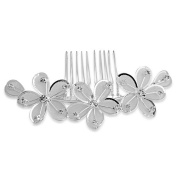 Skyus® Silver Plated Flower Rhinestone Crystal Wedding Hair Comb Pin Tiara Fashion