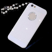 iPhone 6 Case,Inspirationc® Luxury Hybrid PC Hard Shiny Bling Glitter Sparkle with Crystal Rhinestone Cover Case for Apple iPhone 6 12cm --White