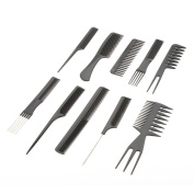 Salon Professional Combs Hairdressing Hair Styling Tools Plastic Barbers Set Hair accessories 10pcs/set