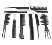 10PC Set Professional Combs Hairdressing Salon Styling Barber Set
