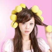 1 Set DIY Soft Sponge Hair Care Curler Roller Balls Yellow Makeup styling tools