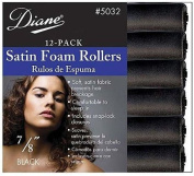 Diane Black Satin Foam Hair Rollers - 2.2cm