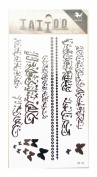 King Horse Arabic Character Temporary Tattoo Black
