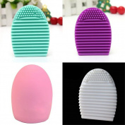Banggood Makeup Silicone Brush gel Cleaner Scrubber Tool Foundation random colour