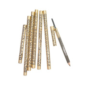ACE Make Up Tool Two Sides Waterproof Eyebrow Pencil With Brush Gold Metal Casing
