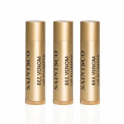 Saintsco Bee Venom Lip Plumpers X 3 - The Best Bee Venom Lip Plumper Lip Enhancer Lip Balm From New Zealand - Get Fuller, Sexier Lips Without Injections - Made with Manuka Honey UMF 15+, Shea Butter, Grape Seed Oil, Cocoa Butter. Worldwid ..