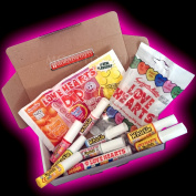 Swizzels Matlow Love Hearts Treat Box - Love Heart Dips, Whistles, Lipsticks And Rolls - Romantic Gift - By Moreton Gifts