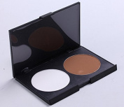2 colour the repair capacity plate trimming powder Makeup Palette white and coffee colour