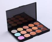 15 Colour Concealer Foundation camouflage for almost any skin problem Makeup Palette - Multicolor