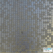 FLEXIPIXTILE, Modern Aluminium Mosaic Tile, Peel & Stick, Backsplash, Accent Wall, 0.09sqm,SILVER SPOON