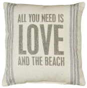 All You Need Is Love And The Beach - Canvas Throw / Accent Pillow - 38cm