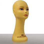 New Milano Collection Silicone Heavy Duty Wig Head/hat Mannequin. T-pin & Tripod Compatible 41cm Inches