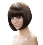 """RoyalStyle® 8"""" 30cm Short Hair Wig Natural As Real Hair Cosplay Wigs Neat Bangs Bob Wigs"""