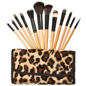 BLUETTEK Professional Soft Synthetic Fibre Cosmetic Makeup Brushes Set Kits Ultra Soft Brushes Tools Pro Sets with White Pouch Bag