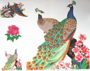 GGSELL GGSELL fashion latest design extra large tattoo for back beatiful peacocks temporary tattoo sticker