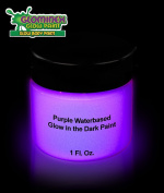 Glominex Glow in the Dark Face and Body Paint 30ml Jar - Purple