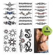 Supperb® Mix Tribal Temporary Tattoos / 5 Pack