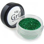 Grl Cosmetics Cosmetic Glitter Makeup for Face, Eyes, Lips, Nails and Body - GL31 Emerald Green, 10 Gramme Jar