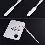Ladies Beauty Box Fashion Stainless Steel Cosmetic Makeup Palette Spatula Tool