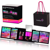 Ivation All-in-One Makeup Kit Gift Set - Contains Truly Vast Collection of Eyeshadows, Blushes, Powders, Eyeliners, Lip Glosses & More - Folds Out from 12cm x 14cm x 14cm Cube