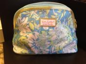 Estee Lauder Lilly Pulitzer Blue Flower Printed Makeup Cosmetics Bag