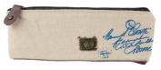 KINGSO Retro Canvas Paris Pencil Pen Case Bag Cosmetic Makeup Coin Purse Pouch Bag,Camera