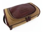 Penguin by Munsingwear Men's Travel Kit Toiletry Bag Case Vintage Brown