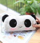 Cute Lovely Soft Plush Panda Pencil Pen Case Bag in Bag Cosmetic Makeup Bag Pouch