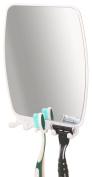 DecoBros Fog-Free Bathroom Shower Shave Mirror w/ toothbrush Rzaor holder caddy