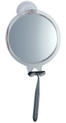 Fog Free Shower Shaving Round Oval Mirror - With Power Lock Suction Mount