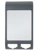 Zadro Fogless Water Mirror with Dual Accessory Holder, Midnight Grey