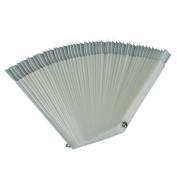 50 Pcs White Fan-shaped False Fake Nail Art Tips Sticks Polish Gel Salon Display Chart Practise Tool